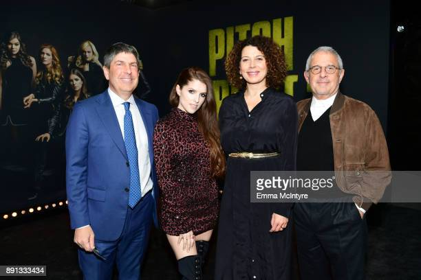 Jeff Shell Chairman of Universal Filmed Entertainment Group Anna Kendrick Donna Langley Chairman of Universal Pictures and Ron Meyer Vice Chairman of...