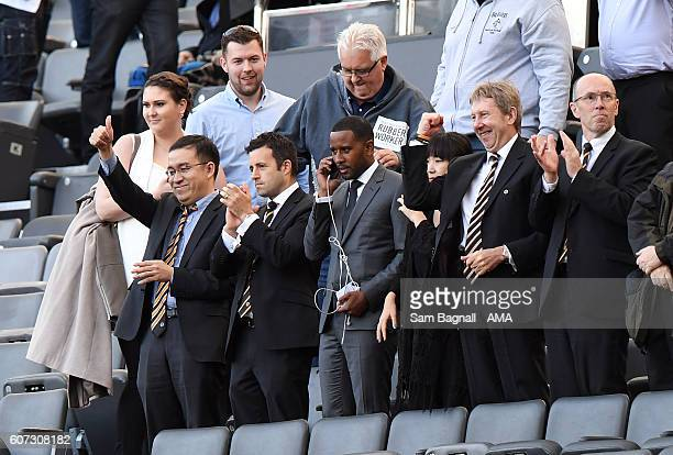 Jeff Shi of Fosun International Limited and Wolverhampton Wanderers celebrates at full time during the Sky Bet Championship match between Newcastle...