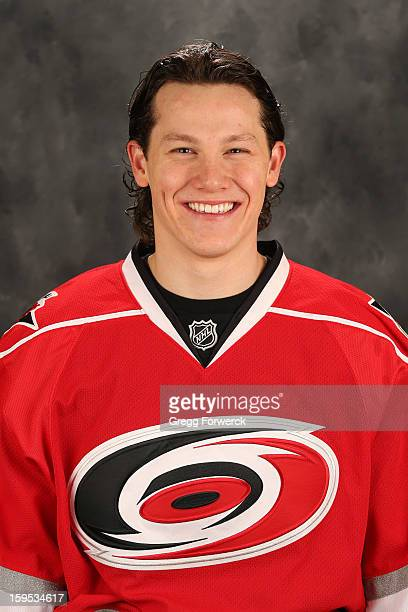 Jeff Skinner of the Carolina Hurricanes poses for his official headshot for the 20122013 season on January 132013 in Raleigh North Carolina