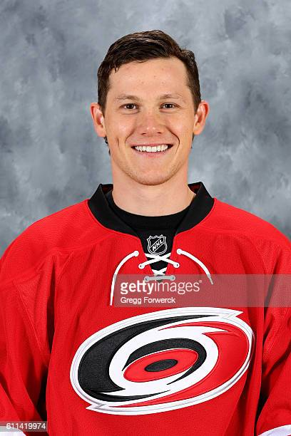 Jeff Skinner of the Carolina Hurricanes poses for his official headshot for the 20162017 season on September 22 2016 at Carolina Family Practice and...