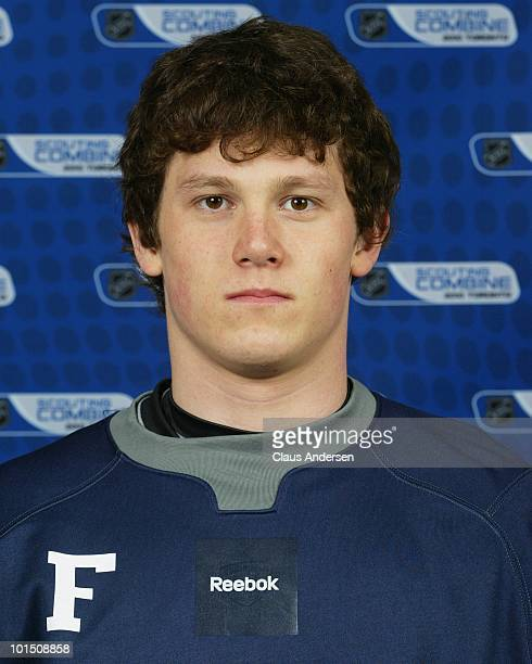 Jeff Skinner poses for a portrait prior to testing at the 2010 NHL Combine on May 28 2010 at the Westin Bristol Place in Toronto Canada