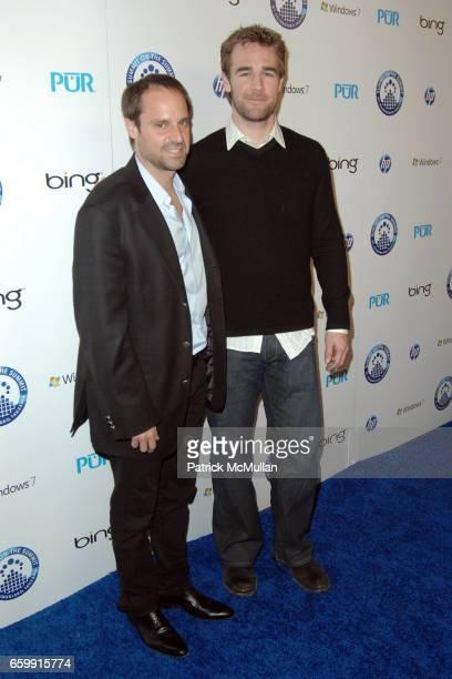 Jeff Skoll and James Van Der Beek attend KENNA AND FRIENDS PRESENT SUMMIT ON THE SUMMIT KILIMANJARO PREASCENT EVENT at Voyeur on December 9 2009 in...