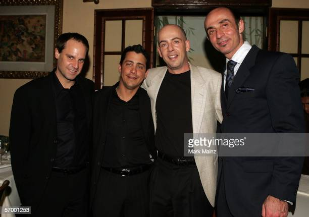 EXCLUSIVE Jeff Skoll David Glasser Bob Yari and Shaun Toub arrive at the Yari Film Group Crash Academy Party at the Crustacean Restaurant on March 4...
