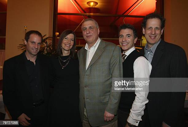 Jeff Skoll executive producer Diane Weyermann executive producer Errol Morris director and guests attend the Standard Operating Procedure Dinner as...