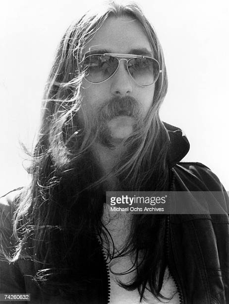Jeff Skunk Baxter of the rock and roll band The Doobie Brothers poses for a portrait in circa 1974