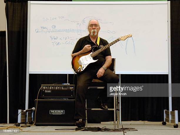 Jeff Skunk Baxter speaks onstage at the Skunk Baxter Guitar/Theoretical Physics Clinic during the 2013 SXSW Music Film Interactive Festival at Austin...