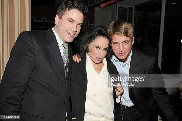 Jeff Slonim Nikki Haskell and Sam Bolton attend LEVIEV Party for GLAMOUR GIRLS at Sunset Tower Hotel on February 19 2008 in Los Angeles CA