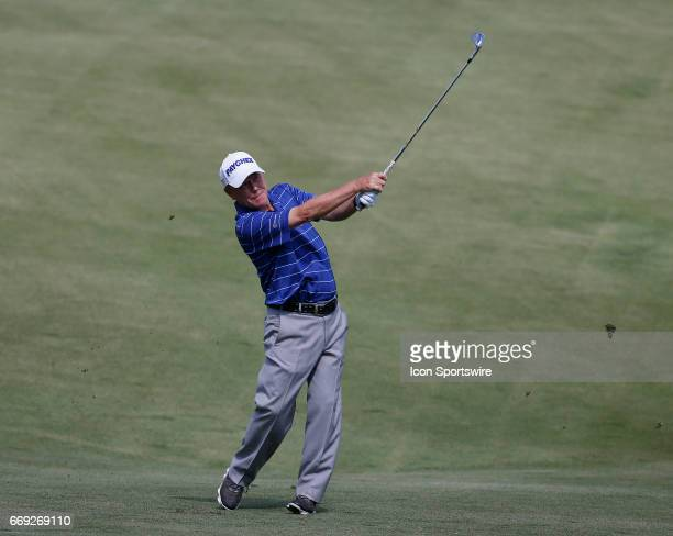 Jeff Sluman during the final round of the Mitsubishi Electric Classic tournament at the TPC Sugarloaf Golf Club Sunday April 16 in Duluth GA
