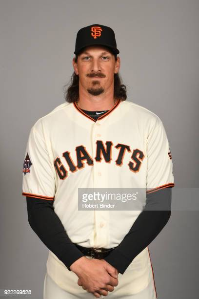 Jeff Smardzija of the San Francisco Giants poses during Photo Day on Tuesday February 20 2018 at Scottsdale Stadium in Scottsdale Arizona