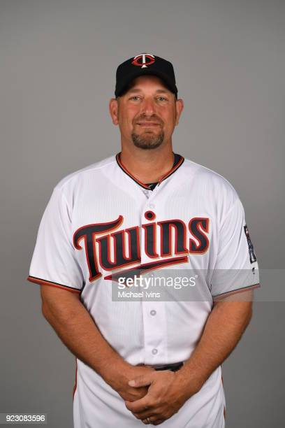 Jeff Smith of the Minnesota Twins poses during Photo Day on Wednesday February 21 2018 at CenturyLink Sports Complex in Fort Myers Florida