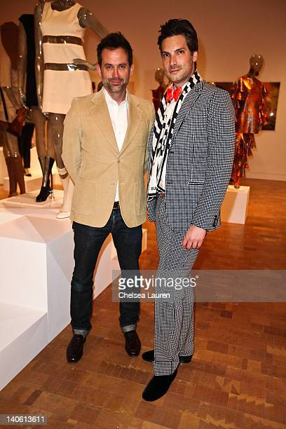 "Jeff Snyder and Cameron Silver attend the MOCA Leadership Circle reception and members' opening for ""The Total Look: The Creative Collaboration..."