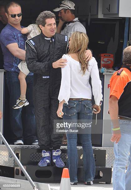Jeff Soffer and Elle Macpherson at HomesteadMiami Speedway March 7 2010 in Homestead Florida