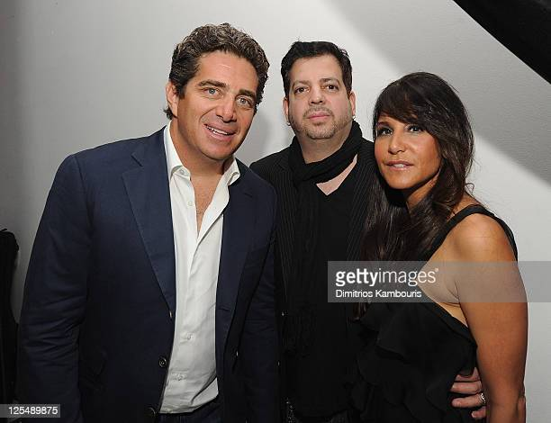 Jeff Soffer Tommy Lipnick and Laurie Lynn Stark attend Designer of the Year Dinner hosted by Chrome Hearts for Design Miami at The Moore Building on...