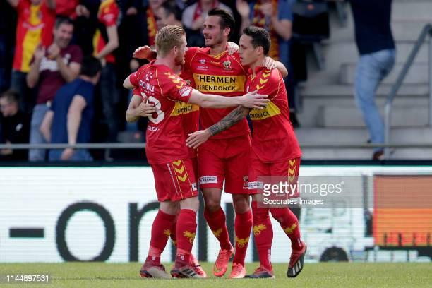 Jeff Stans of Go Ahead Eagles celebrate goal during the Dutch Keuken Kampioen Divisie match between Go Ahead Eagles v FC Den Bosch at the De...