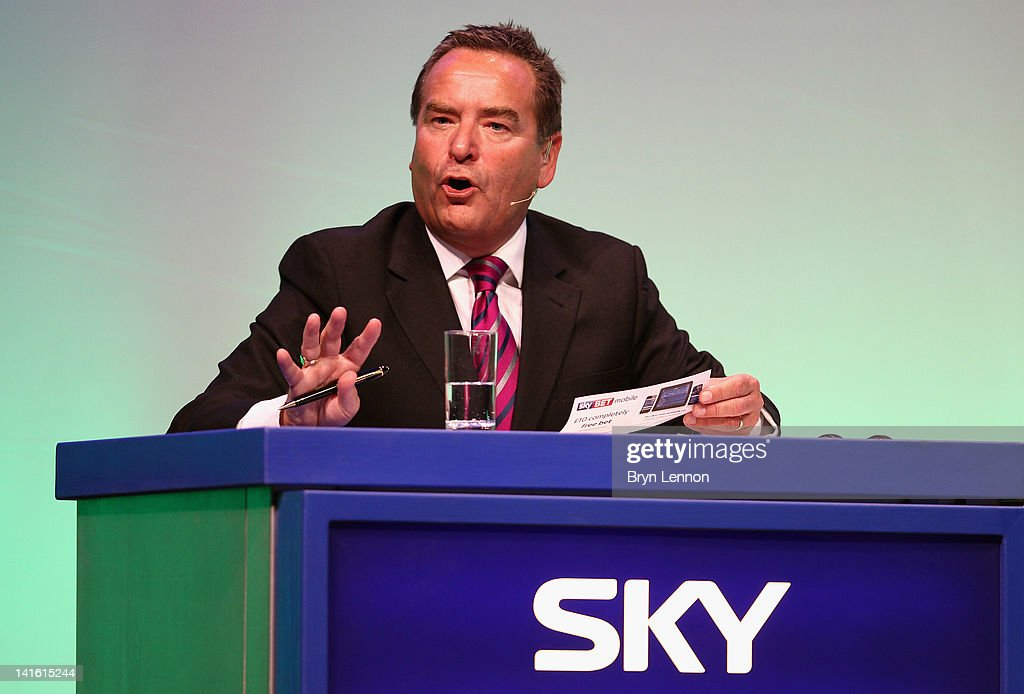 Jeff Stelling addresses the audience during Gillette Soccer Saturday Live with Jeff Stelling on March 19, 2012 at the Bournemouth International Centre in Bournemouth, England.