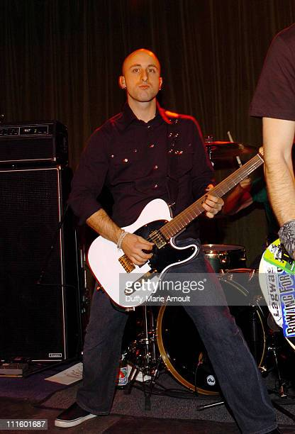 Jeff Stinco during Simple Plan Album Release Party for 'Still Not Getting Any' October 27 2004 at Hiro Ballroom in New York City New York United...
