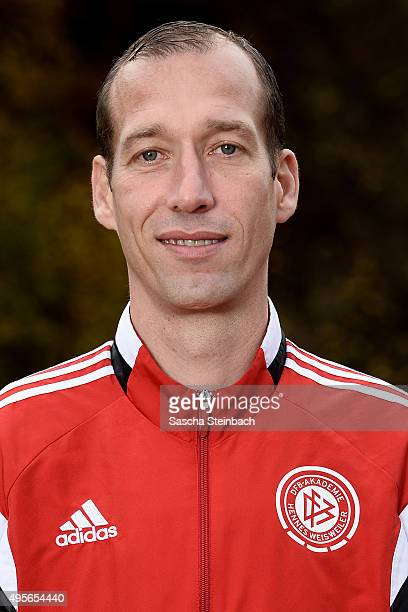 Jeff Strasser poses during the DFB Pro Licence Coaching Course at Sportschule Hennef on November 4 2015 in Hennef Germany