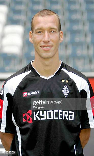 Jeff Strasser poses during the team presentation of Borussia Monchengladbach for the Bundesliga season 2005 2006 on July 7 2005 in Monchengladbach...