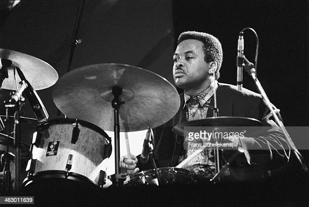 Jeff 'Tain' Watts, drums, performs at the North Sea Jazz Festival in the Hague, the Netherlands on 13 July 1990.