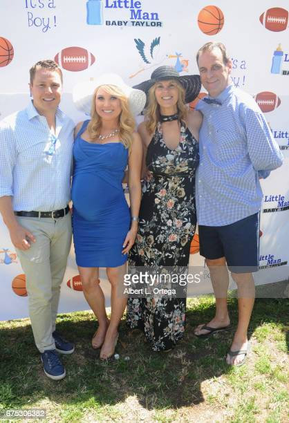 Jeff Taylor Alana Curry Kelly Ivaska and Pierre Hoffman at the Baby Shower For Actress Alana Curry Held at a private location on April 30 2017 in...