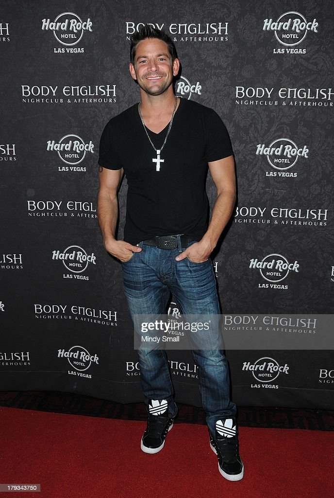 Jeff Timmons arrives at the Body English nightclub inside the Hard Rock Hotel & Casino on September 1, 2013 in Las Vegas, Nevada.