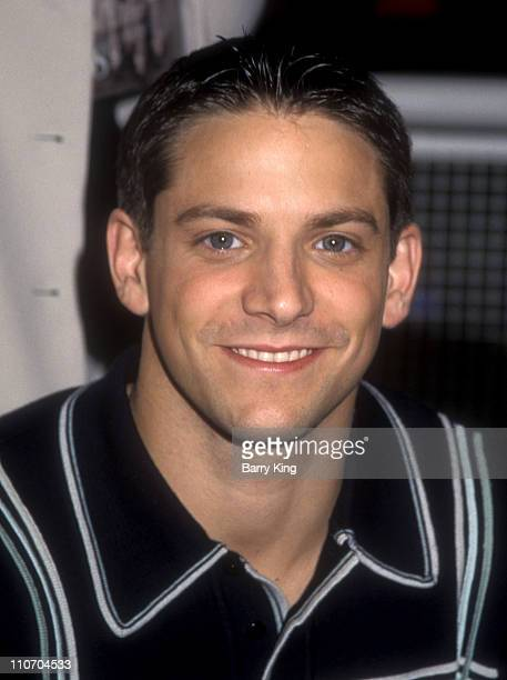 Jeff Timmons during In Store Appearance By 98 Degrees at Sam Goody Store in Universal City California United States