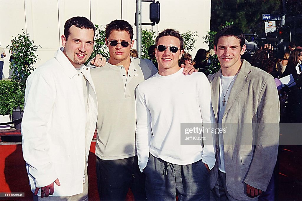Jeff Timmons, Justin Jeffre, Drew Lachey and Nick Lachey of 98 Degrees
