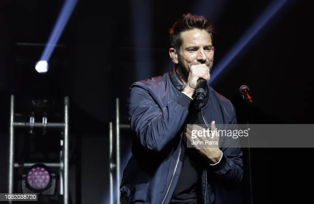 Jeff Timmons of 98 Degrees performs at Fountainbleau Miami Beach on October 12 2018 in Miami Beach Florida