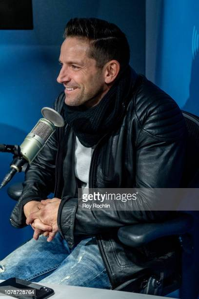 Jeff Timmons of 98 Degrees visits SiriusXM Studios on December 07 2018 in New York City