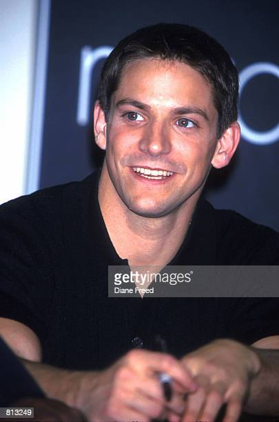 Jeff Timmons of music group 98 appears at Macy's department store in New York City April 20 1999 to promote their new album