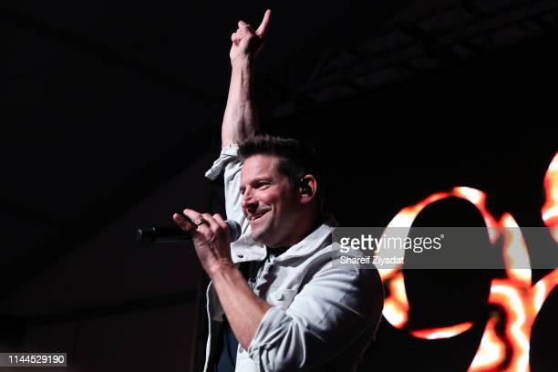 Jeff Timmons performs with 98 Degrees during Under The Stars 2019 at Riverside Yacht Club on May 17 2019 in Riverside Connecticut