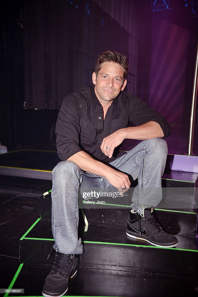 Jeff Timmons poses for a portrait after The Knockouts Burlesque Show at Seminole Casino Coconut Creek on March 15, 2013 in Coconut Creek, Florida.