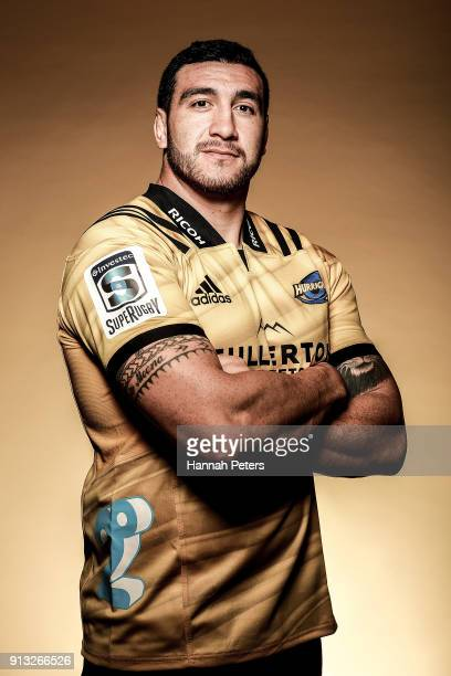 Jeff ToomagaAllen poses during the Wellington Hurricanes 2018 Super Rugby headshots session on January 22 2017 in Auckland New Zealand