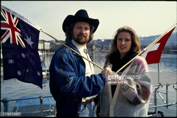 Jeff Turner und Ehefrau Maria am Vierwaldstättersee 1988