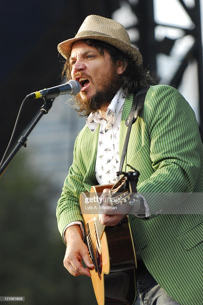 Jeff Tweedy of Wilco during 2006 Lollapalooza - Day 3 at Grant Park in Chicago, Illinois, United States.
