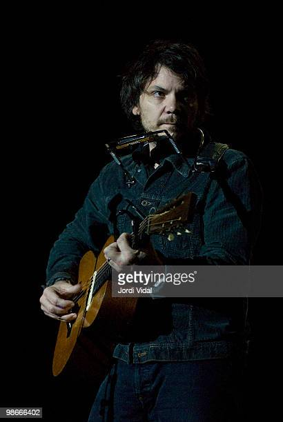 Jeff Tweedy performs on stage during day 2 of Primavera Club Festival 2006 at Auditori Forum on December 2 2006 in Barcelona Spain