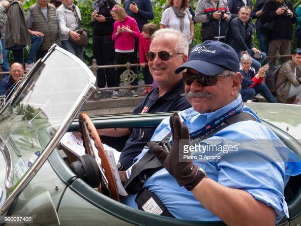 Jeff Urbina and John Recca attends 1000 Miles Historic Road Race on May 19 2018 in Milan Italy