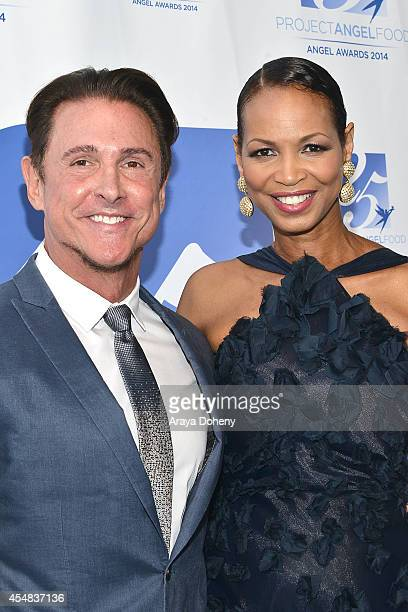 Jeff Valenson and Faye Moseley attend the Project Angel Food's 25th Anniversary Angel Awards 2014, honoring Aileen Getty with the Inaugural Elizabeth...
