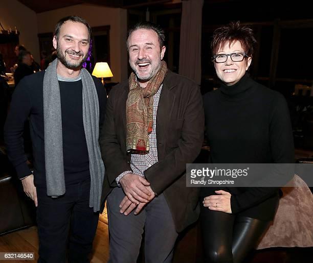 Jeff Vespa actor David Arquette and director Tricia Nolan attend Jeff Vespa and CreativeFuture Celebrate Tricia Nolan and The Horizon Awards party on...
