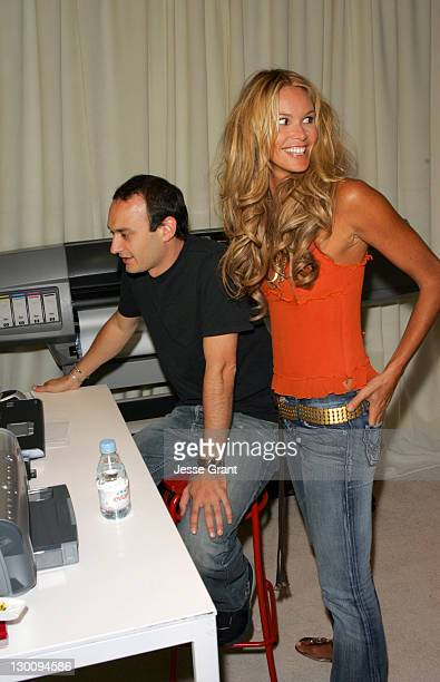 Jeff Vespa and Elle Macpherson during 2005 Toronto Film Festival HP Portrait Studio Presented by WireImage and Inside Entertainment Day 2 at HP...