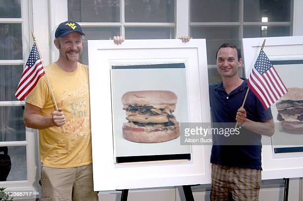 Jeff Vespa and Morgan Spurlock during Morgan Spurlock and Jeff Vespa host All American 4th of July BBQ and Private Showing of Eat Me Photographs by...