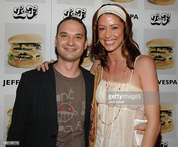 Jeff Vespa and Shannon Elizabeth during Jeff Vespa's Eat Me Art Show Opening at The Gallery at LoFi in Los Angeles California United States