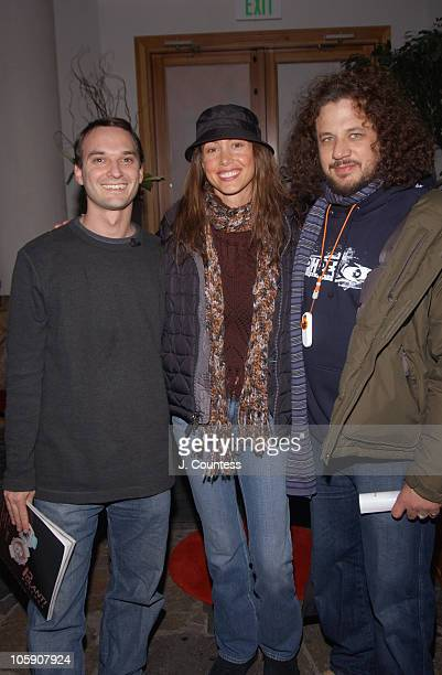Jeff Vespa Shannon Elizabeth and Joe Reitman during 2004 Sundance Film Festival Los Angeles Confidential Party at Wireimage Gallery by Diet Coke with...