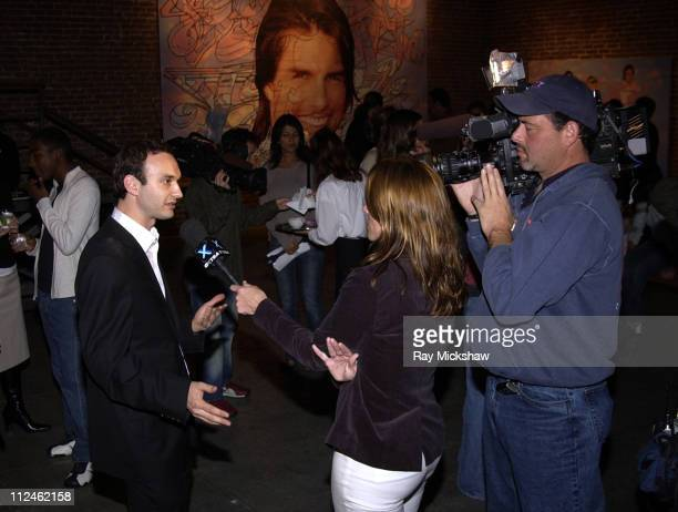 Jeff Vespa speaks with the media during Motorola Hosts Opening of Hollywood Graffiti First Exhibition from Artist Jeff Vespa to Benefit OPCC at...