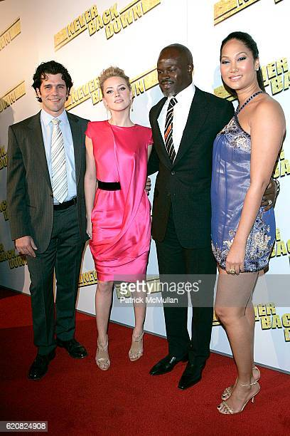 Jeff Wadlow Amber Heard Djimon Hounsou and Kimora Lee Simmons attend Premiere Of Summit Entertainment's 'Never Back Down' at Arclight Cinema on March...