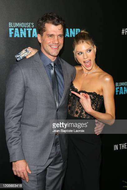 """Jeff Wadlow and Charlotte McKinney attend the premiere of Columbia Pictures' """"Blumhouse's Fantasy Island"""" at AMC Century City 15 on February 11, 2020..."""