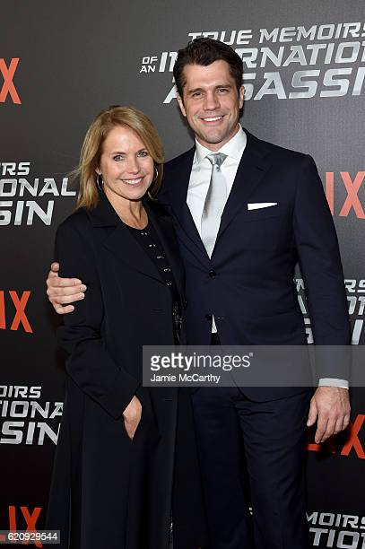 Jeff Wadlow and Katie Couric attend 'True Memoirs Of An International Assassin' at AMC Lincoln Square Theater on November 3 2016 in New York City