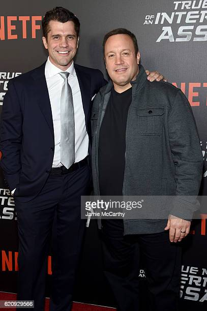 Jeff Wadlow and Kevin James attend 'True Memoirs Of An International Assassin' at AMC Lincoln Square Theater on November 3 2016 in New York City