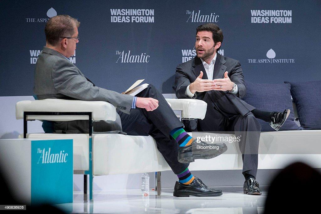 Elizabeth Warren, Jeff Weiner And Al Gore Speak At The Washington Ideas Forum : News Photo