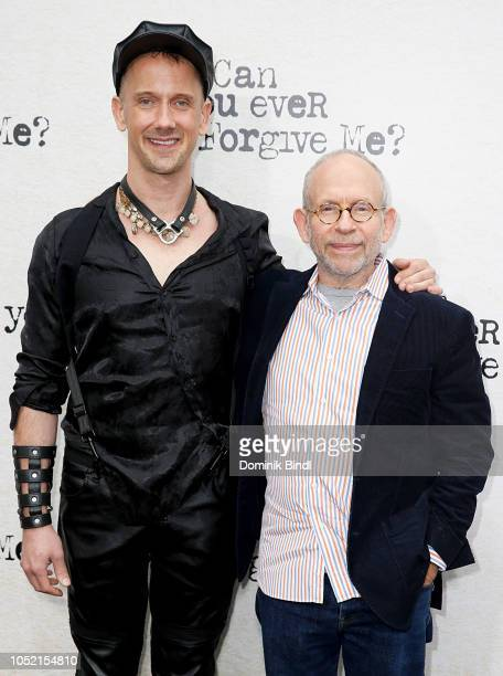 Jeff Whitty and Bob Balaban during the Can You Ever Forgive Me New York Premiere at SVA Theater on October 14 2018 in New York City